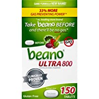 Beano Food Enzyme Dietary Supplement | Help Digest Gas-Causing Foods | 150 Tablets