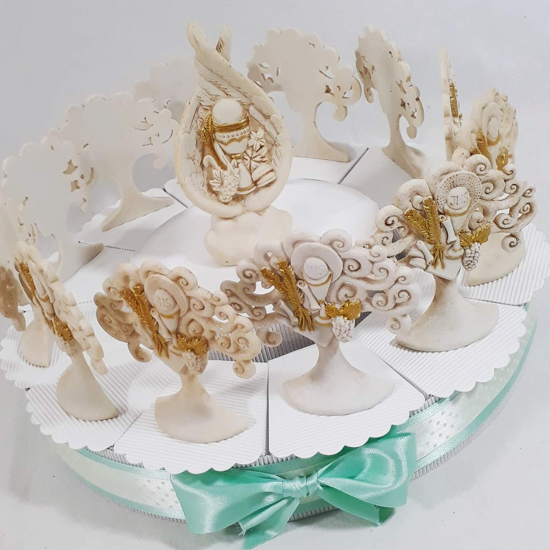 comprar descuentos Torta Da 12 + + + 6 Aggiunte + Centrale Ali Angelo Sindy Bomboniere - Tarta bombonera para Primera Comunión, Figuras de Regalo  productos creativos