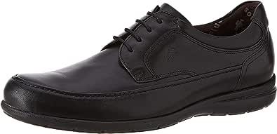 Fluchos   Zapato de Hombre   Luca 8498 Ave Castaño   Zapato de Piel   Cierre con Cordones   Piso de Goma