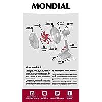 Ventilador 30cm Red Premium 6, Mondial, V-36-6P, Branco/Vermelho