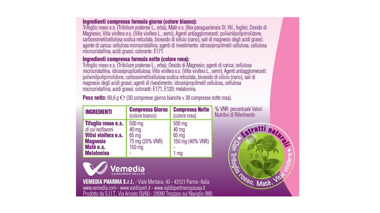 Amazon.com: Valdispert Menopause Day & Night Food Supplement 30 + 30 Tablets: Health & Personal Care