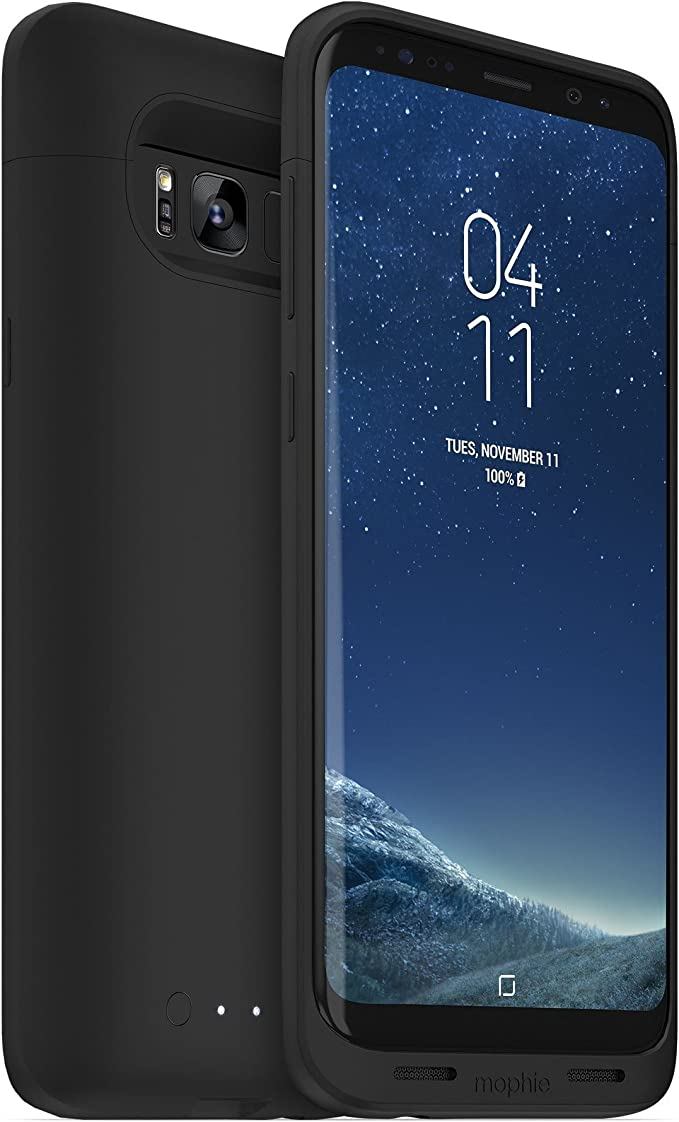 mophie Juice Pack - Funda para Samsung Galaxy S8 Plus (3,300 mAh, batería integrada, carga inalámbrica universal), color negro: Amazon.es: Electrónica