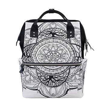 FANTAZIO Mochilas Mandala Hippie Mochila Escolar Lona Daypack, Color 6, tamaño Talla única: Amazon.es: Deportes y aire libre