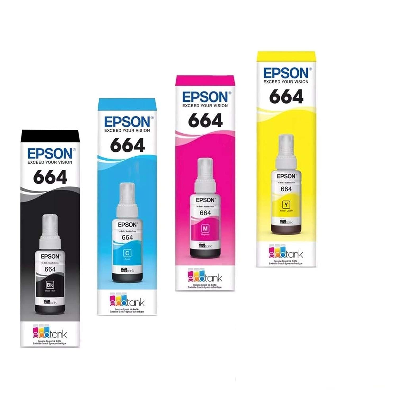 Epson T6641-4-SVH - Botellas de Tinta (4 Botellas: Negro, Cian ...