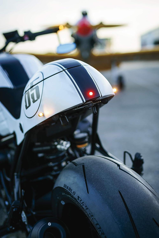 Kuryakyn by Kellermann 2535 Satin Black Bullet Atto Amber Turn Signal LED Harley