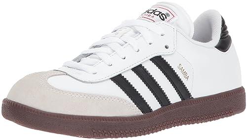 info for 1c270 d0fd6 adidas Samba-Classic Soccer Shoe, Black White, 1.5 M US Little Kid