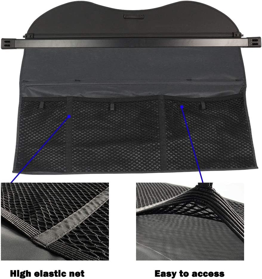 MarretooAuto Retractable Cargo Cover Fits Benz ML 2012-2015 Beige Durable Waterproof GLE 2016-2019