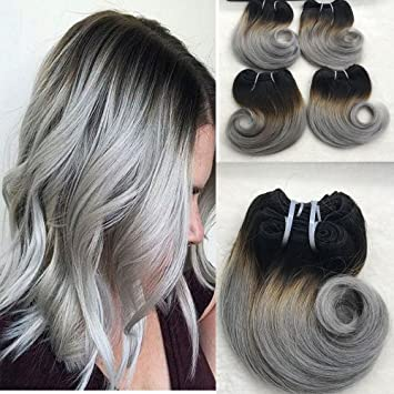 Amazon full shine 8 100g per package sew in remy hair full shine 8quot 100g per package sew in remy hair extensions short weave brazilian ombre pmusecretfo Choice Image
