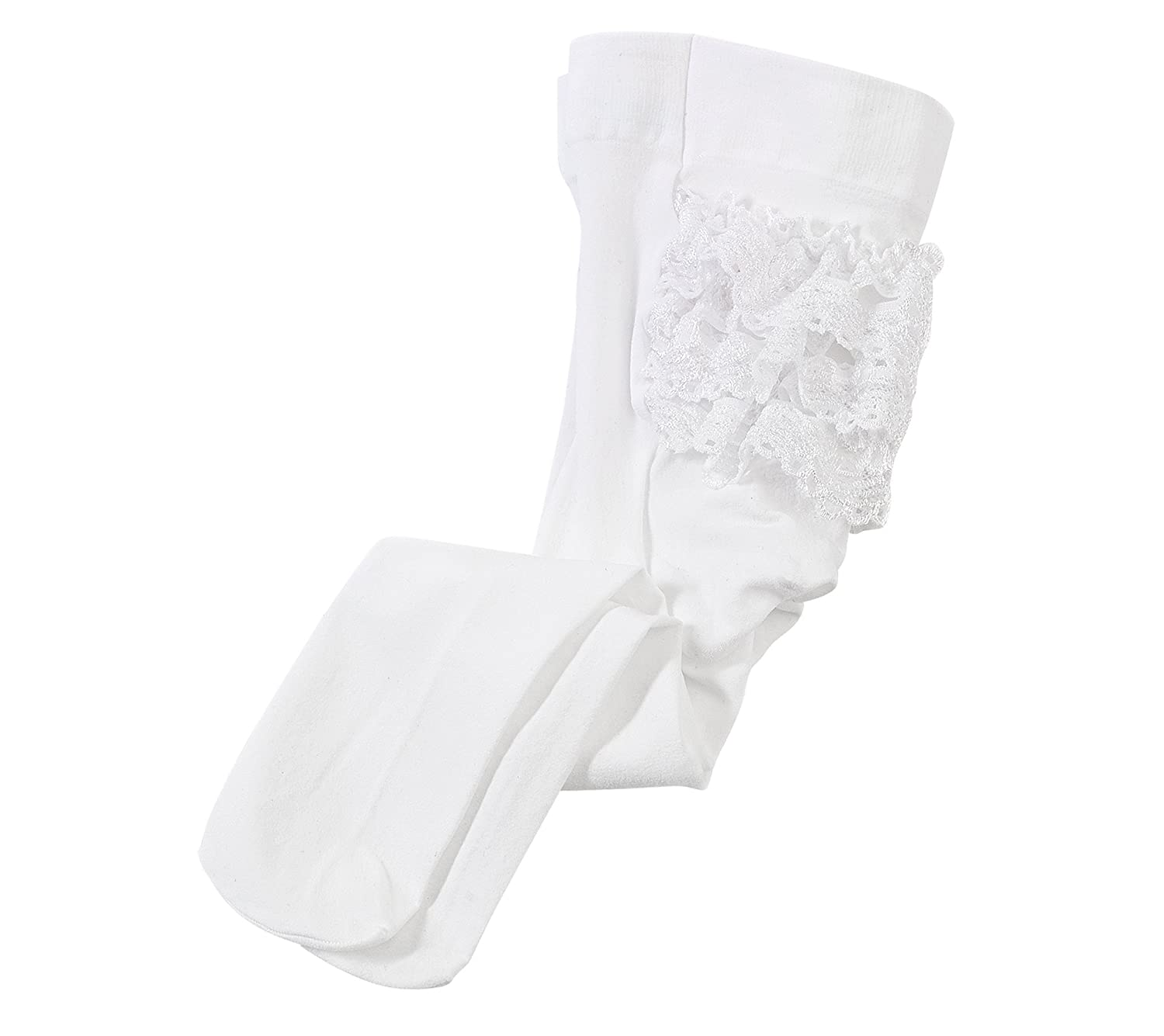 Cuddle Bear Baby Girls' White 2-pk. Rhumba Tights