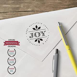 product image for World's Favorite Custom Address Stamp – Three Designing Women, Joy - Holiday Custom Address Stamp (CS3525) (Device & Design)
