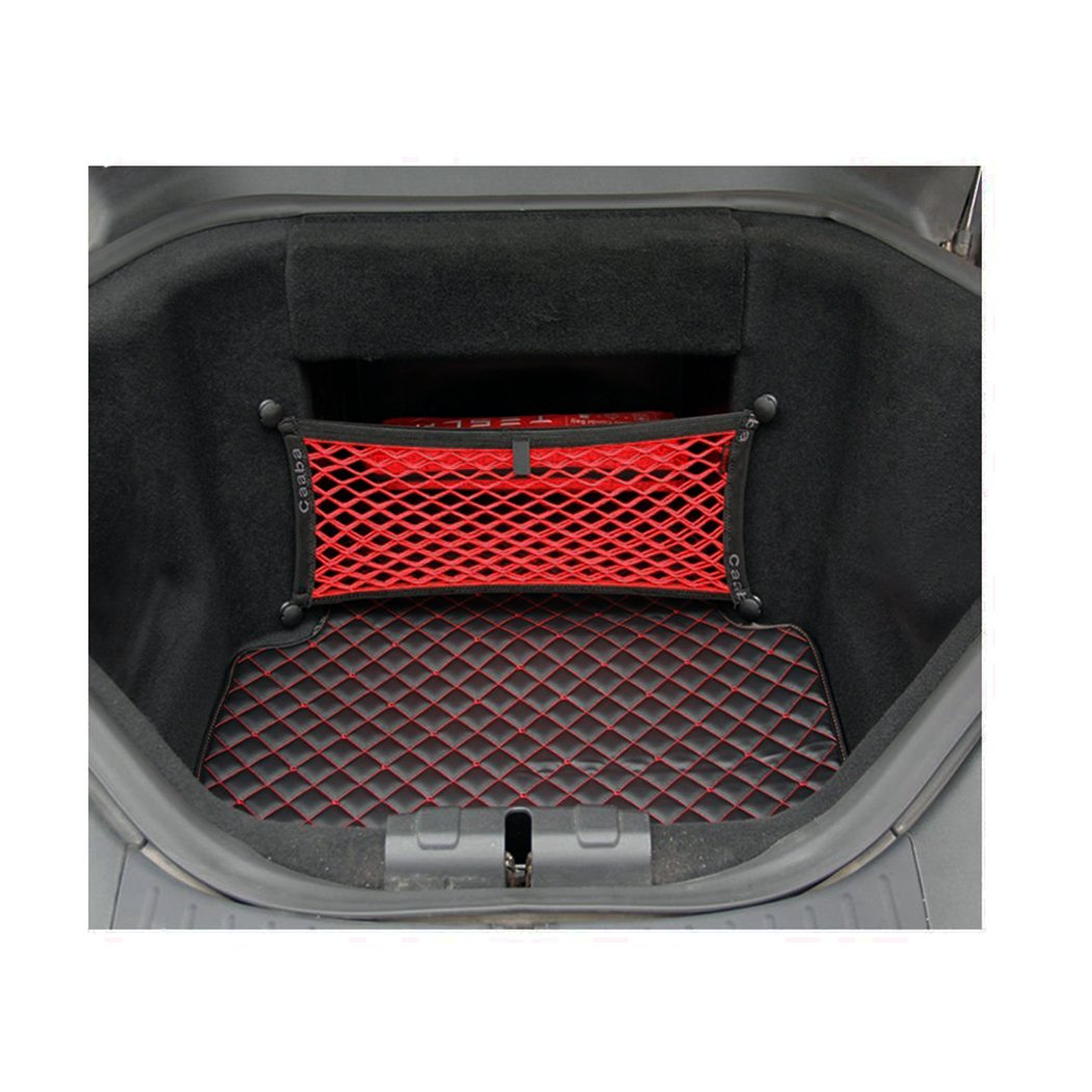 Tesla Home 3 pieces Car Front Trunk Cargo Net Mesh Storage Net Organizer Compatible Tesla Model S P90 90 P85 85 60 2012-2015