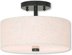 Livex Lighting 52133-92 Meridian 2 Light English Bronze Ceiling Mount