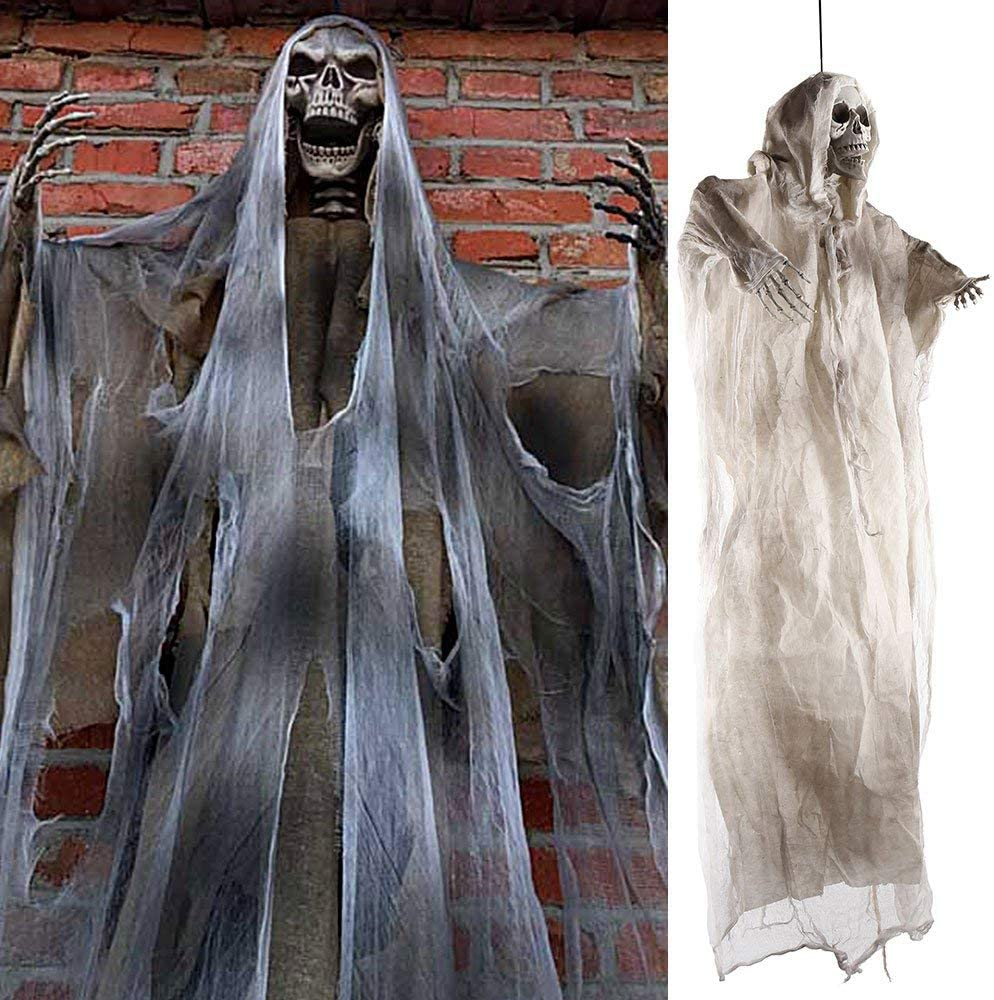 White 70 Inch Halloween Ghost Decorations Scary Props