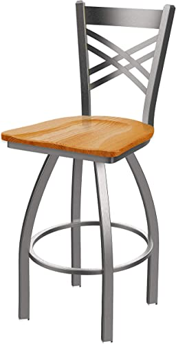 Holland Bar Stool Co. 82025SSMedOak 820 Catalina Counter Stool