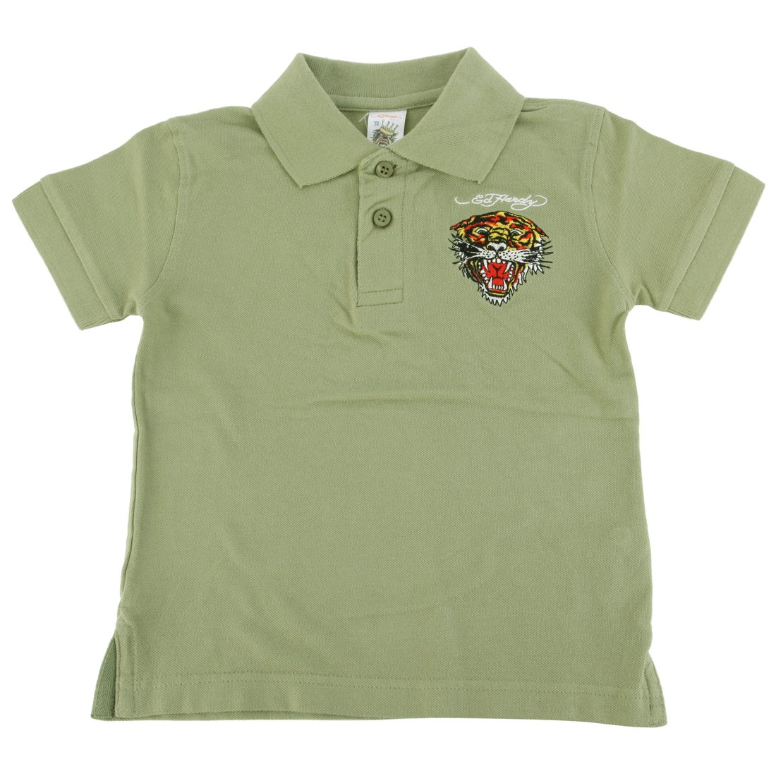 45c615c4 Embroidered bulldog, tiger, eagle, or panther Ed hardy Graphic design.  Short Sleeves button top collar shirt top tee for boys and girls kids unisex