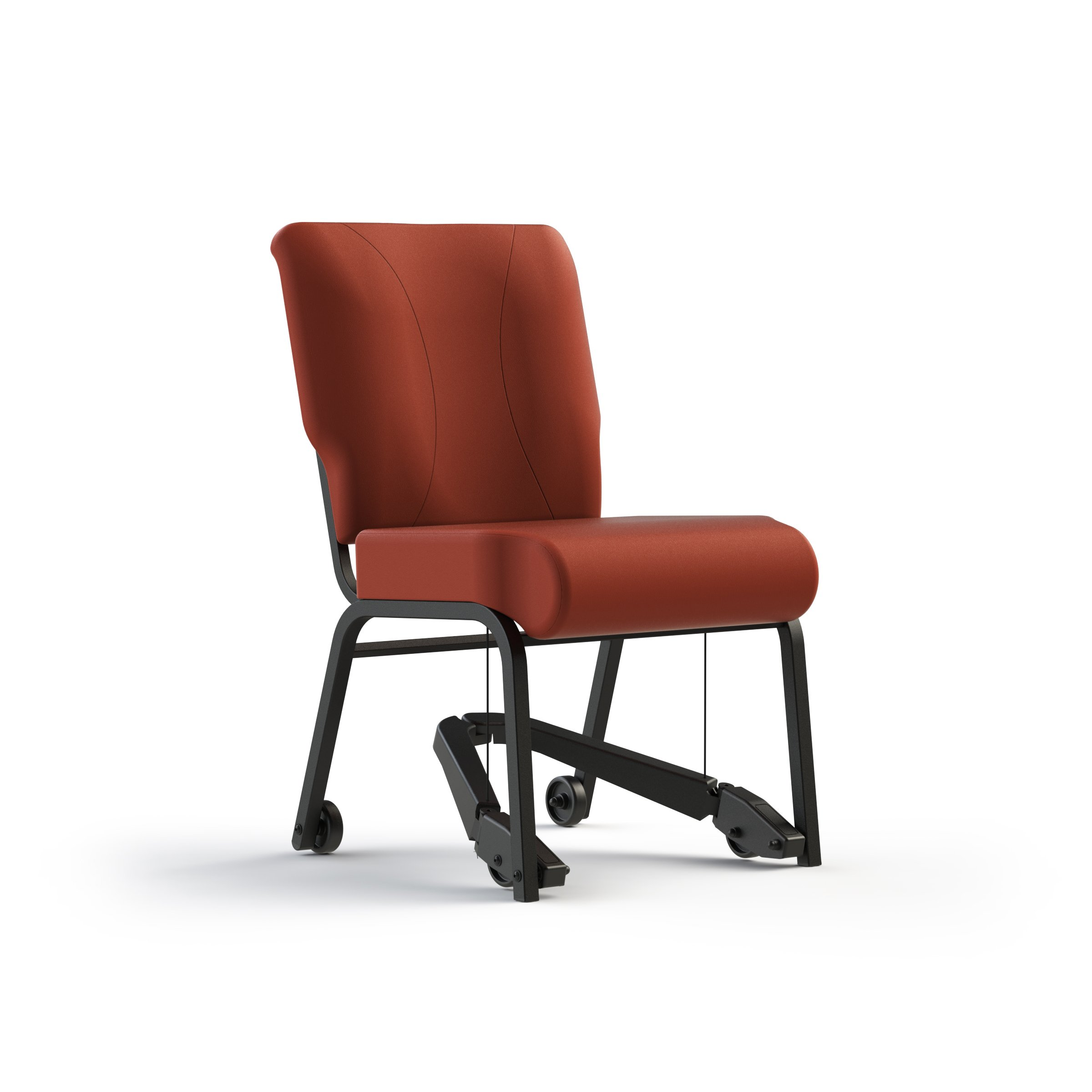 Kitchen/dining chair with mobility assist lever, rated for 250 lbs. ( - it rolls)