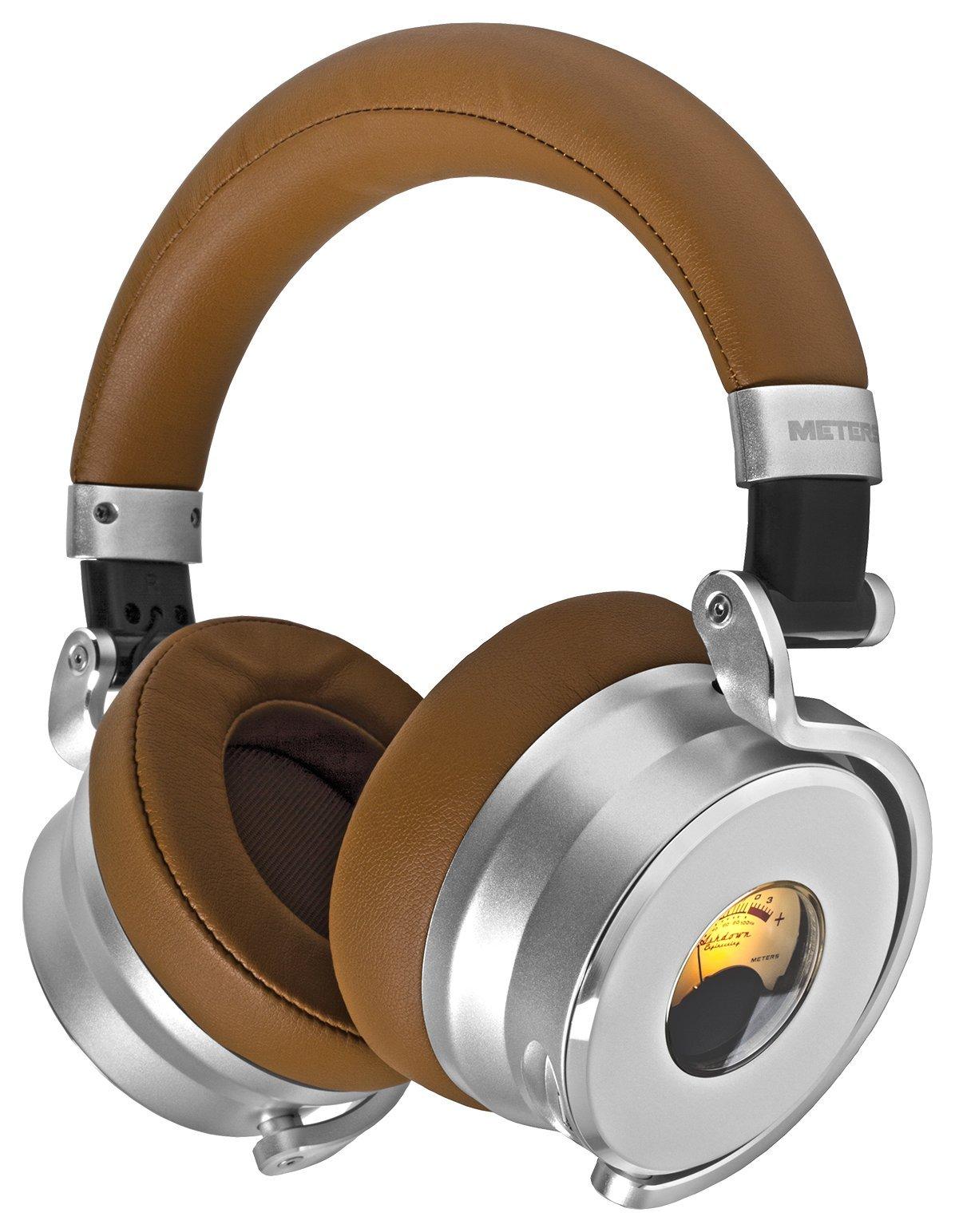 METERS MUSIC METERS Over Ear Headphone OV-1-TAN (Silver × Brown)【Japan Domestic genuine products】