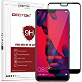 OMOTON Compatible with Huawei P20 Pro Screen Protector - Full Coverage Tempered Glass Screen Protector - [3D Round Edge] [9H Hardness] [Crystal Clear] [Scratch Resist] for Huawei P20 Pro, Black