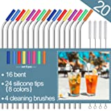 Stainless Steel Straws,Set of 16 10.5