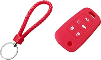 Silicone Holder for Opel and Chevrolet and Buick Car Key color Red Item No 1667 - 2