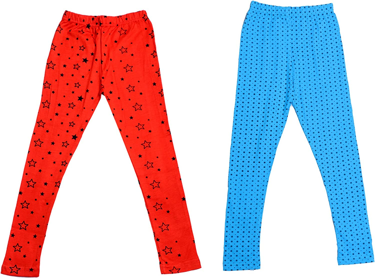Pack Of 2 indiWeaves Girls Super Soft and Stylish Cotton Printed Legging