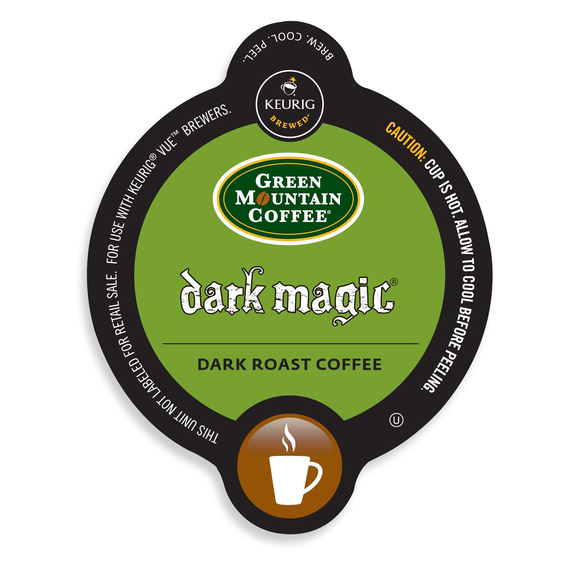 Green Mountain Coffee Dark Magic, Vue Cups for Keurig Vue Brewers (96 Count) by Green Mountain Coffee