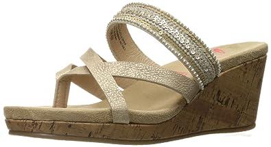 7902e4c63d99 Jellypop Women s Sheryl Espadrille Wedge Sandal Gold Distress Sm 6 ...