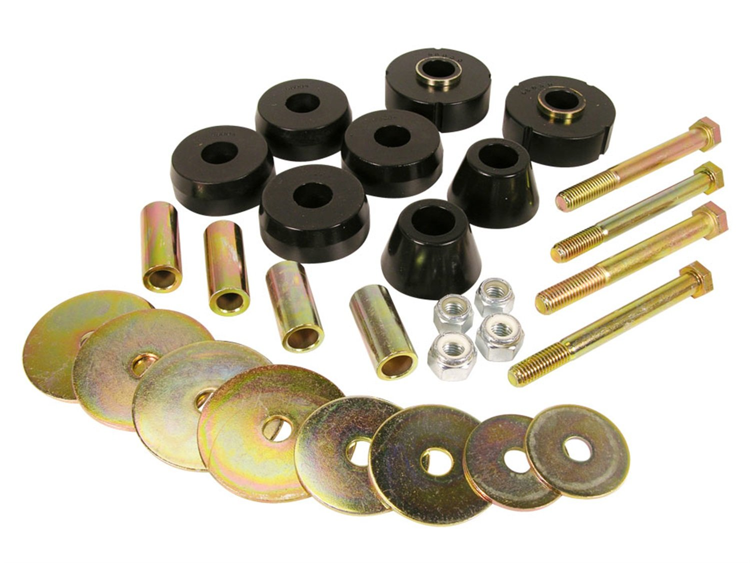 Prothane 7-118-BL Black Body and Standard Cab Mount Bushing Kit - 8 Piece by Prothane