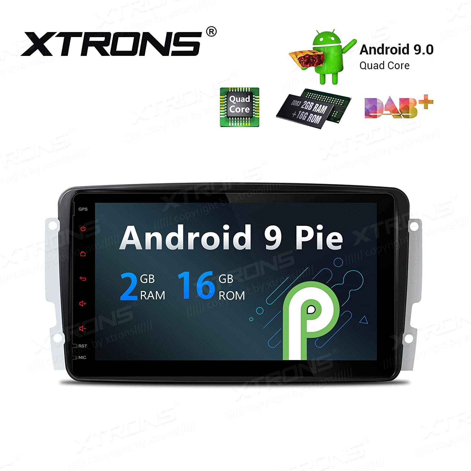 Xtrons Android 9 0 Car Stereo Radio Gps Navigation 8 Inch Touch Screen Slim Design Head Unit
