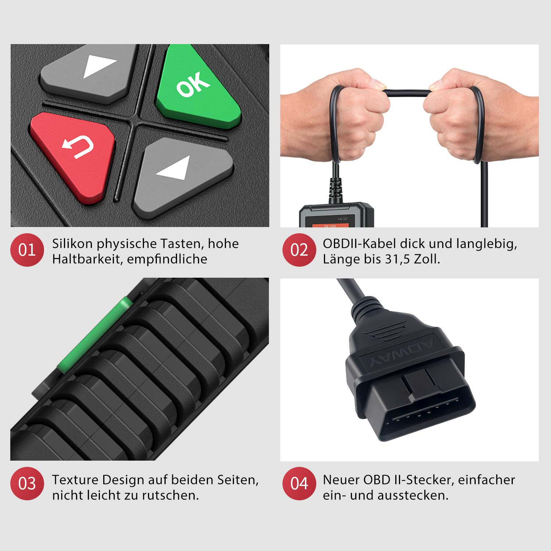 OB D RESOURCE OBD2 Diagnoseger/ät Auto Diagnose-Tester /Überpr/üfen Sie die Motorleuchte Universal CAN-OBDII Code Reader