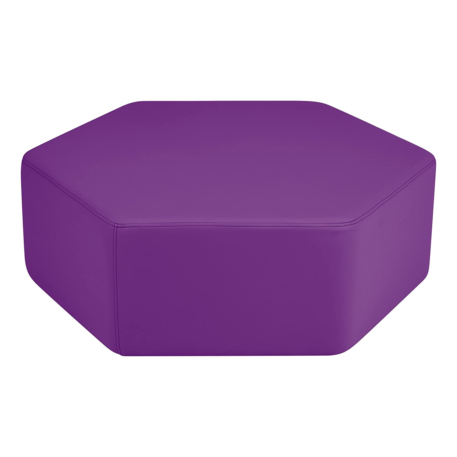 Sprogs SPG-1034GN-A Vinyl Soft Seating 12 Hex Stool Green