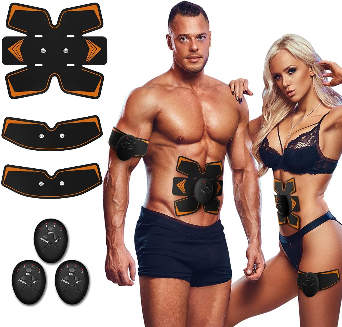 Antmona Abs Stimulator, Muscle Toner - Abs Stimulating Belt- Abdominal Toner- Training Device for Muscles- Wireless Portable to-Go Gym Device- Muscle Sculpting at Home- Fitness Equipment, Black : Sports & Outdoors