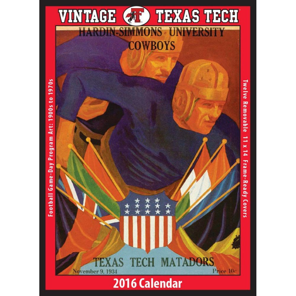 Amazon.com : Vintage Texas Tech Red Raiders Football Poster Calendar by  Asgard Press : Office Products