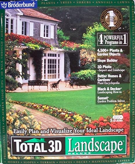 TOTAL 3D Landscape DELUXE (Landscaping U0026 Gardening Software, Easily Plan  And Visualize Your Ideal