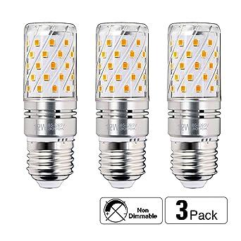 hzsane LED maíz bombillas, 12 W luz blanca 6000 K LED bombillas, 100 W