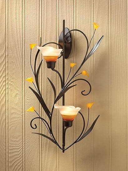 Amazon.com: DecorDuke Candle Wall Sconces Hanging Lantern Holder ...