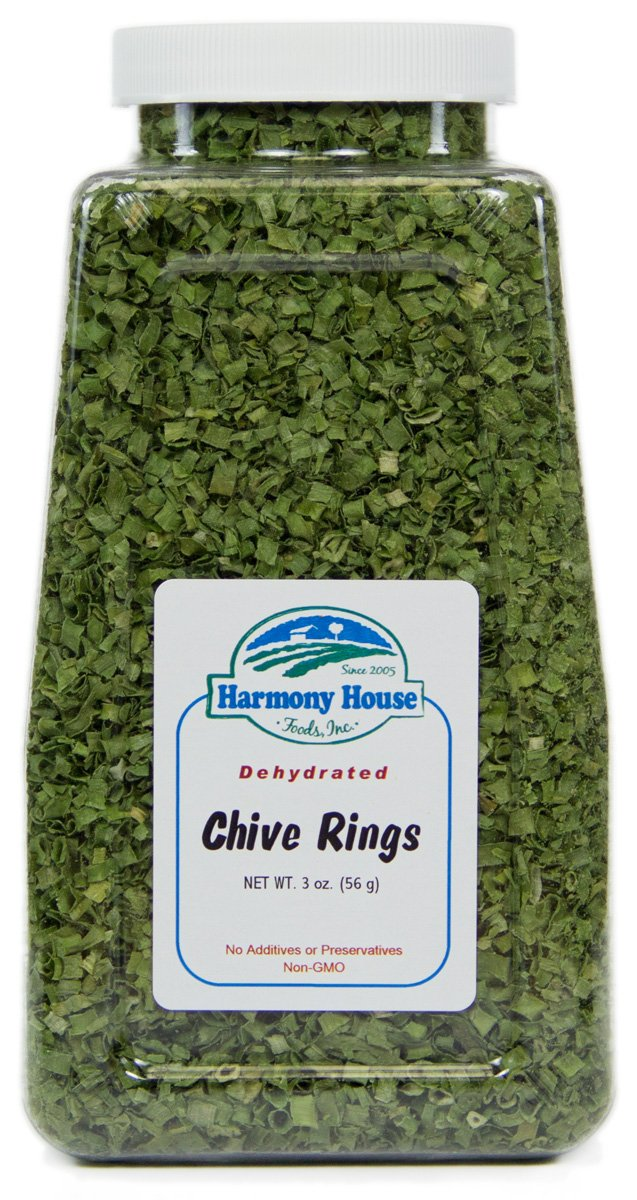 Dehydrated Chives (2 oz. Jar) - Perfect for Food Storage, Emergency Preparedness, Family Planning, Hiking Camping Backpacking