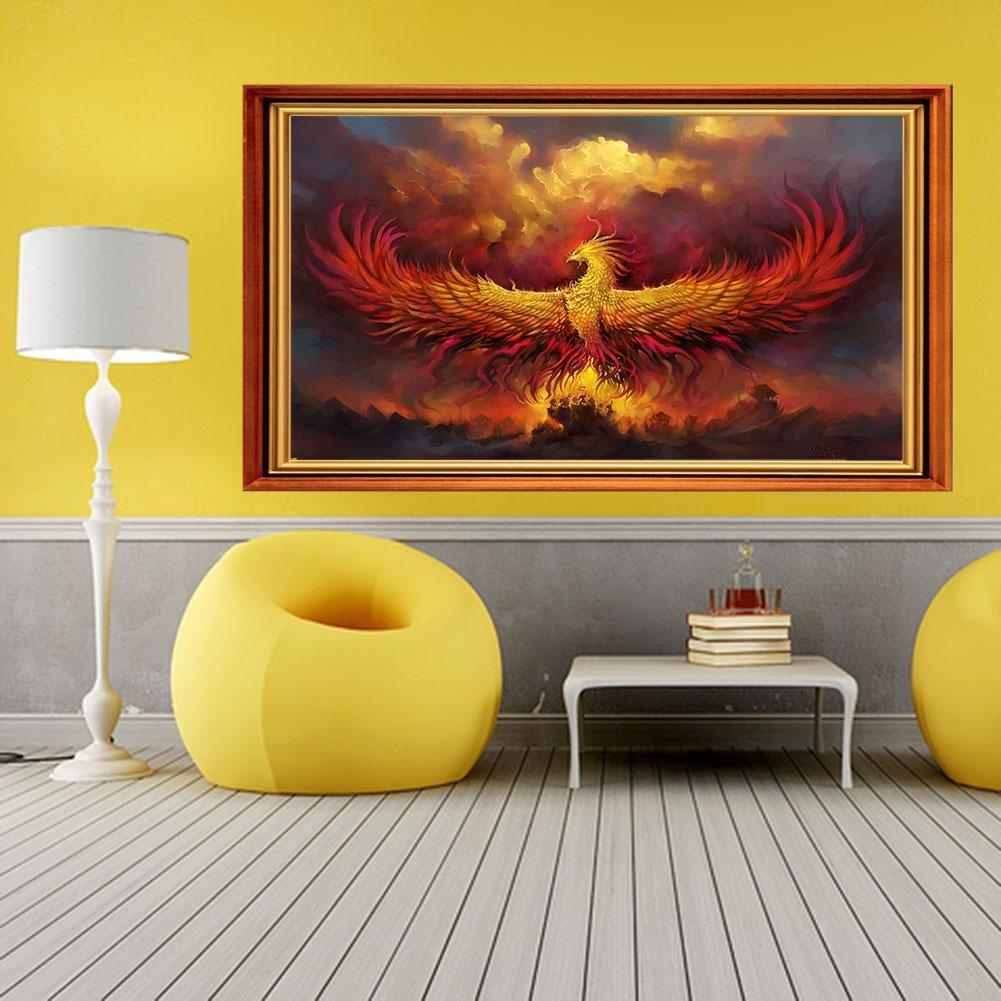 Amazon.com: Phoenix Nirvana Mural, 5D Diamond DIY Wall Painting Kit ...