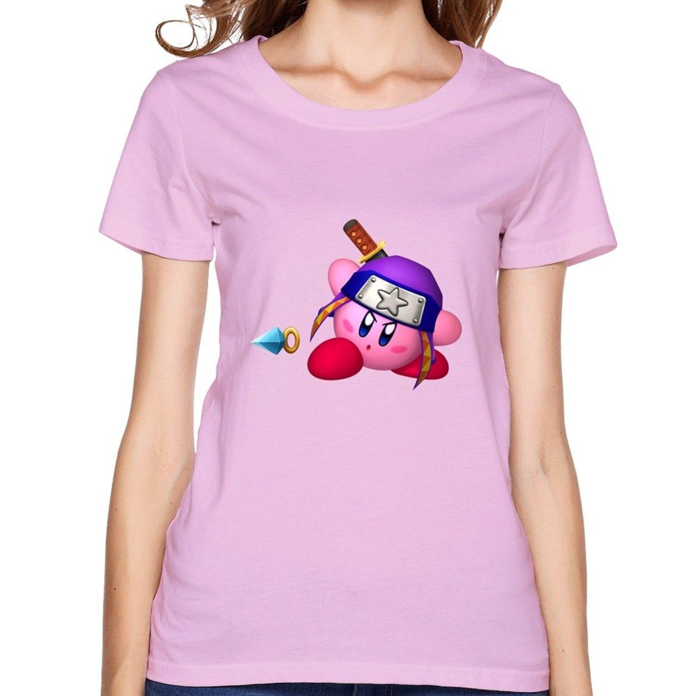 Womens T-shirts Kirby Ninja Pink: Amazon.es: Ropa y accesorios