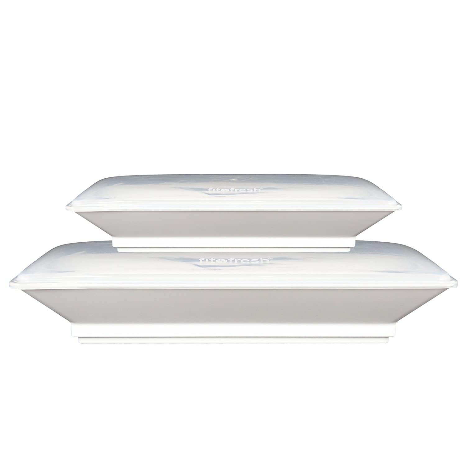 Fit and Fresh Set of Two Freezable Serving Platter Set with Lids Fit & Fresh 443FF