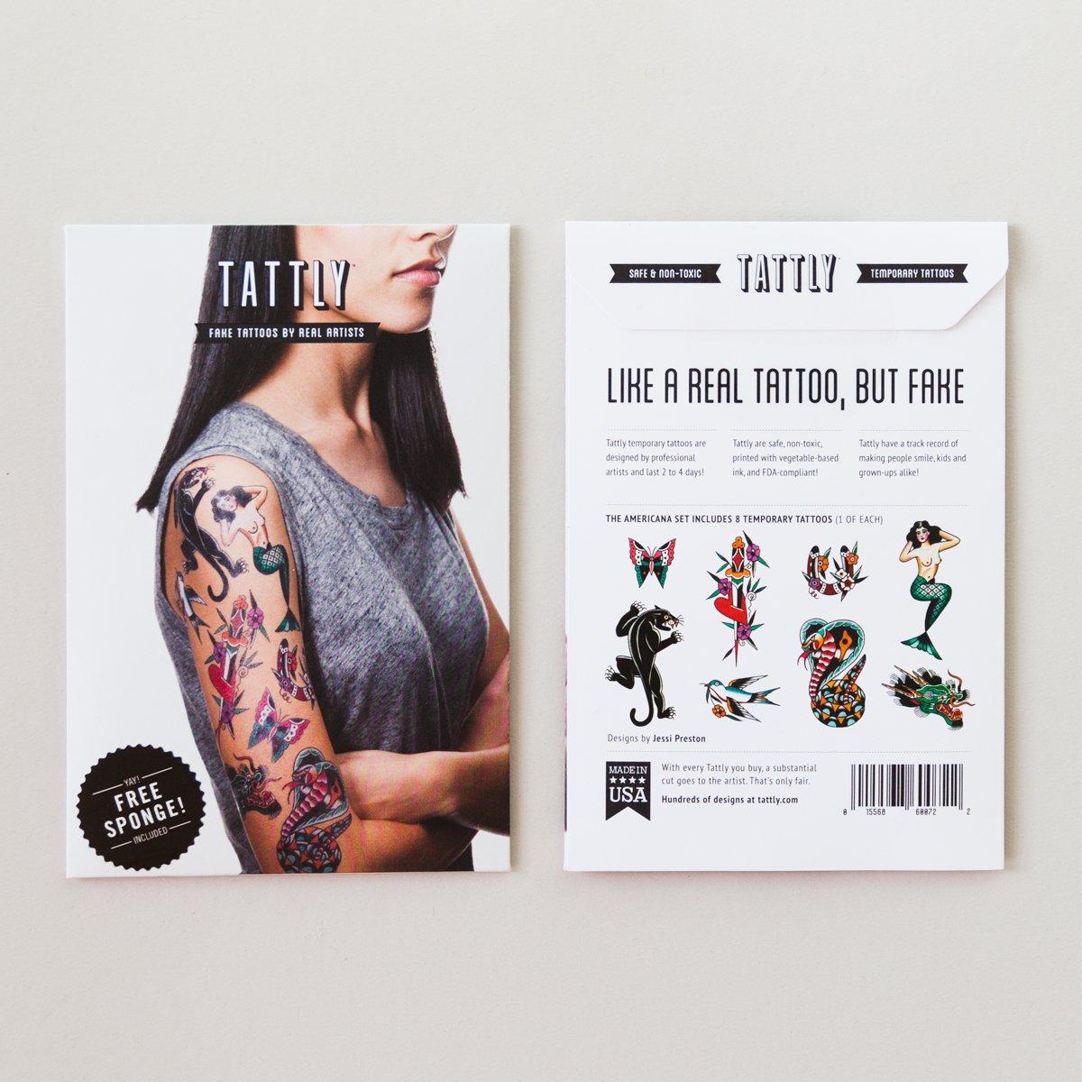 Amazon.com: Tattly Temporary Tattoos Americana Set: Beauty