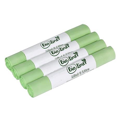 Mini 3L bolsas de basura compostables - 100 forros ...
