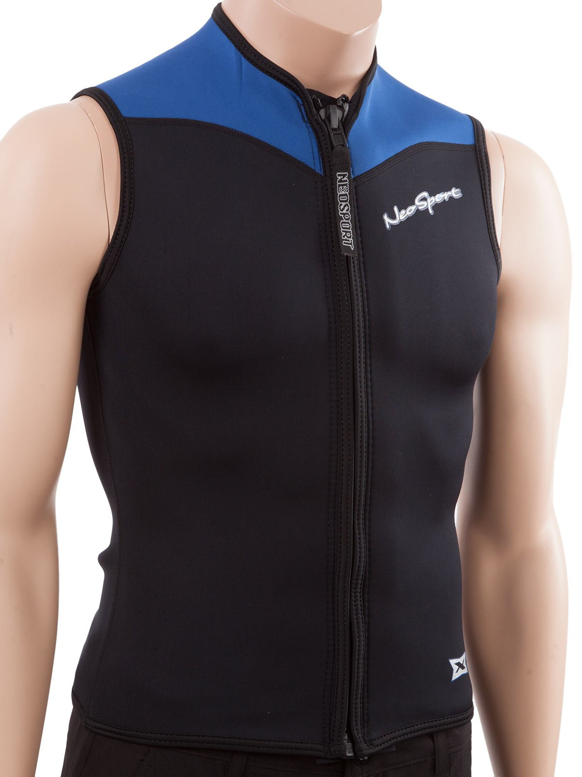 NeoSport Men's 2.5-mm XSPAN Vest (Black with Blue Trim, XXX-Large) - Water Sports, Diving & Snorkeling by Neo-Sport