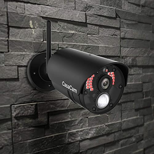 CasaCam VC800 AC Powered HD Night-Vision Camera for VS802 and VS1002 7 Wireless Security System add-on Camera