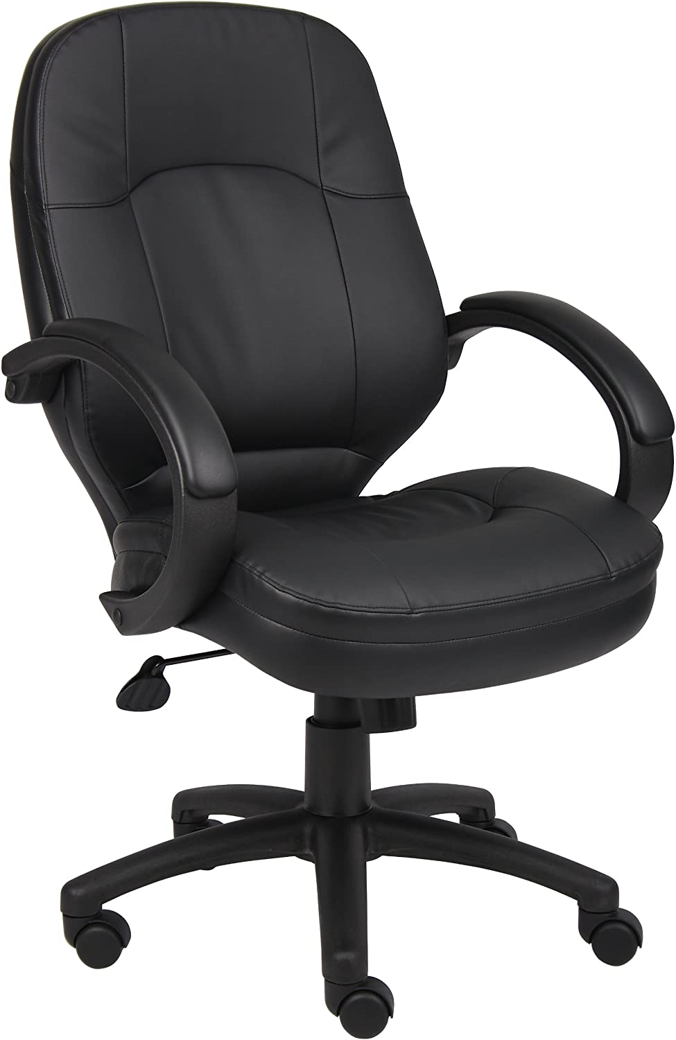 Boss Office Products LeatherPlus Executive Chair in Black