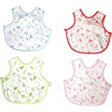 BornBabyKids Baby Bibs Apron Style Pack of 4(Multi Color)