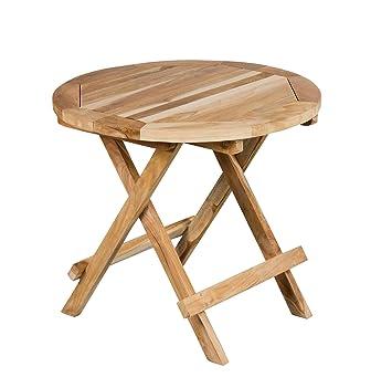 Trendy-Home24 Étagère Ronde Ø 40 cm Table de Jardin Table Pliante de ...