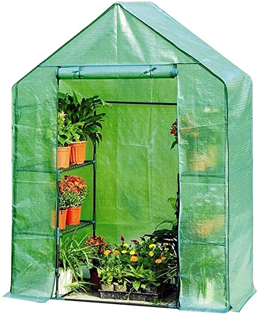 QIANCHENG Invernadero de 3 Niveles Invernadero Invernadero de jardín Fino para Cultivar Vegetales Cubierta Vegetal Plantas frías de policarbonato, 2 tamaños, 3 Colores: Amazon.es: Jardín