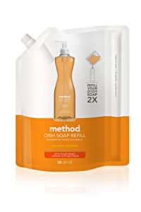 Method Dish Soap Refill, Clementine, 36 Ounce