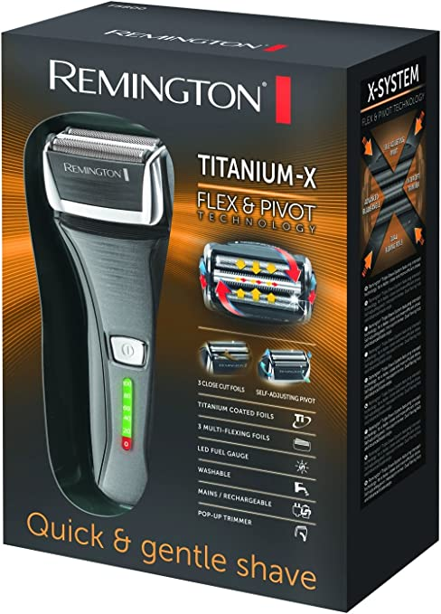 Remington Titanium-X - Afeitadora, inalámbrica, doble lámina ...